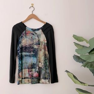 Vex Collection Vibrant Graphic Printed Top 38/M
